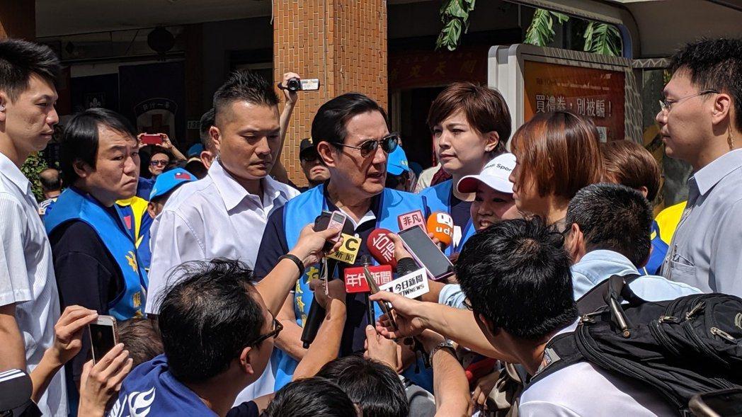 馬英九總統近日針對蔡政府拒收陳同佳一案,砲火猛烈。報系資料照片。
