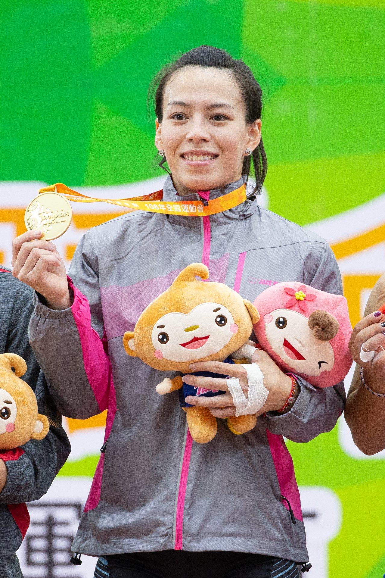 郭婞淳在女子59公斤級摘金。記者季相儒/攝影