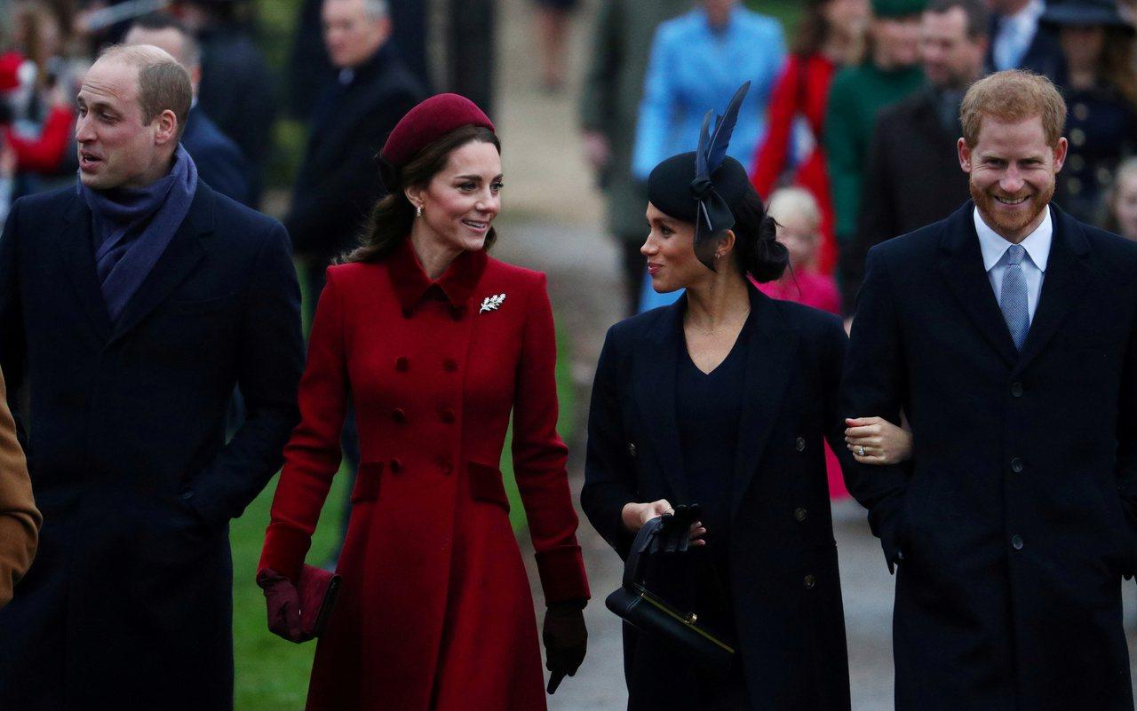 英國王子哈利與妻子薩塞克斯公爵夫人(Duchess of Sussex)梅根日前...