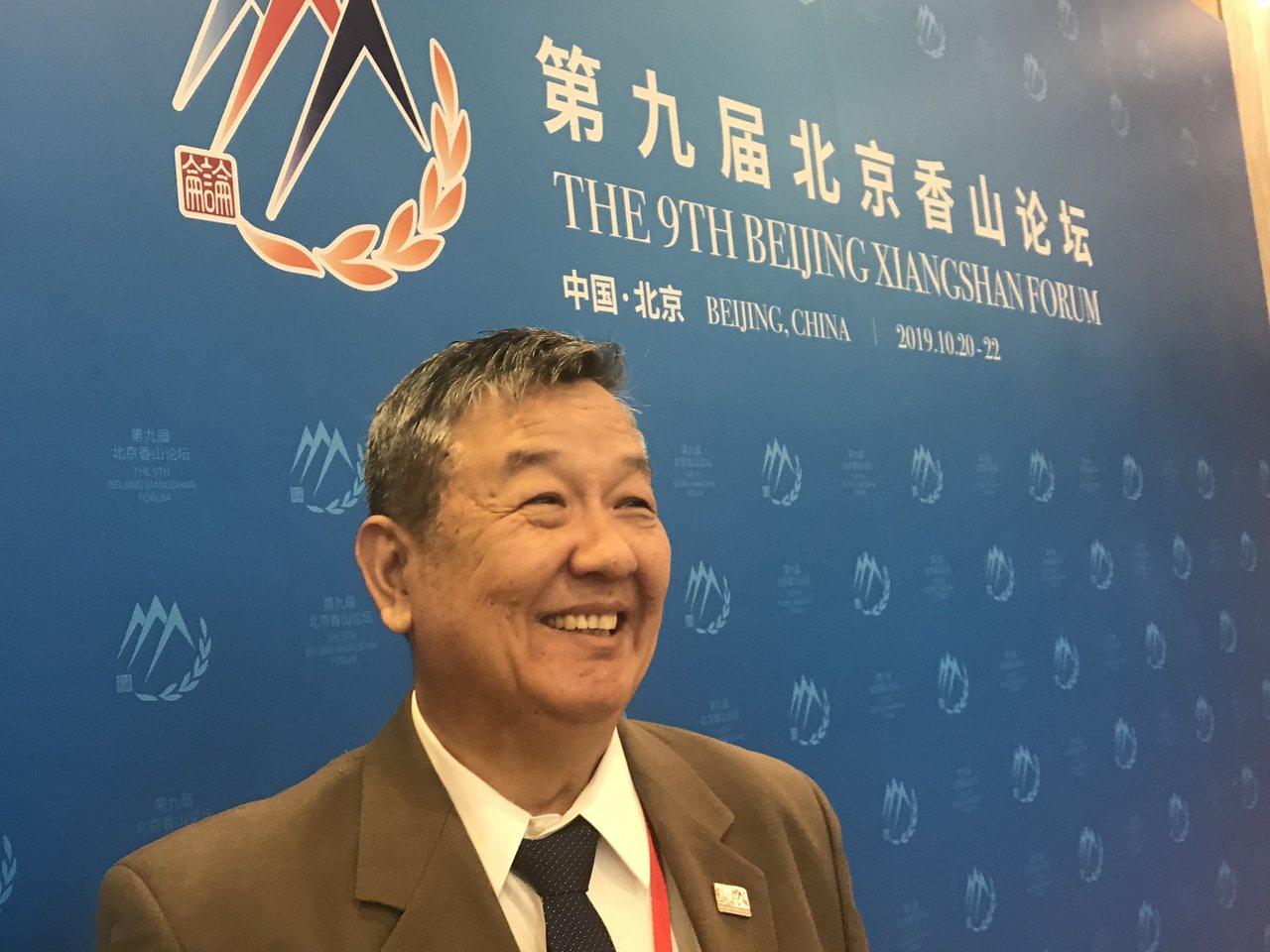 專研國際法的前台大法律系教授傅崐成,今出席北京香山論壇。特派記者陳言喬/攝影