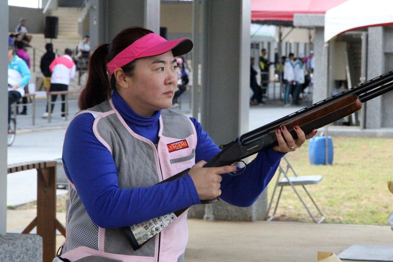 我國射擊老將林怡君全運會奪銅。記者林宋以情/攝影