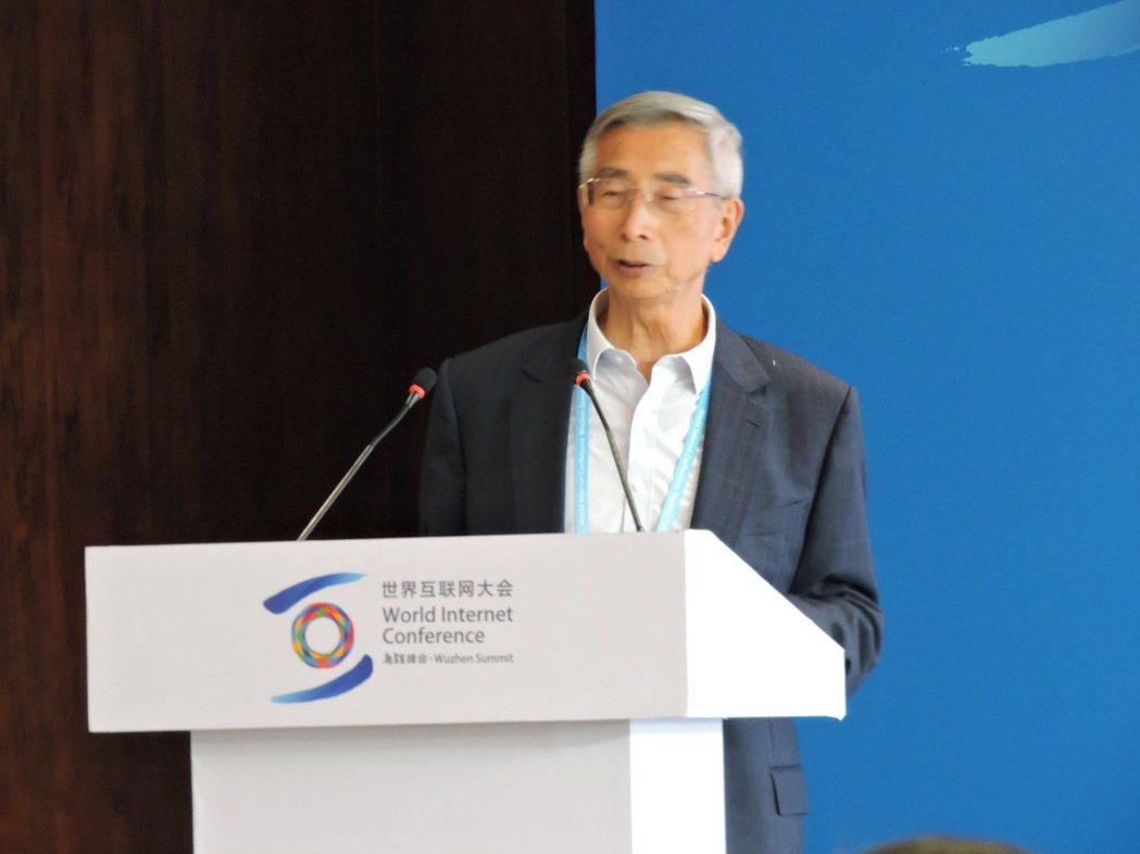 推動「中國芯」的大陸國產晶片之父、中國工程院院士倪光南。記者戴瑞芬攝影