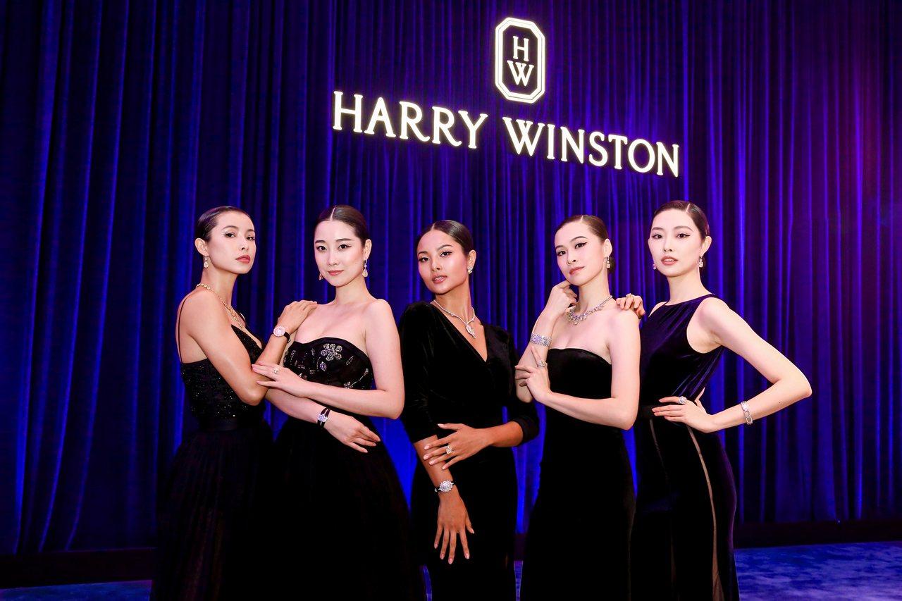 海瑞溫斯頓展示逾百件,超過1,400克拉的黃鑽系列珠寶作品。圖/海瑞溫斯頓提供