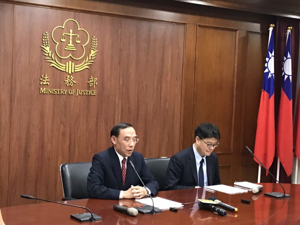 陸委會與法務部今日晚間舉行記者會。記者呂佳蓉╱攝影
