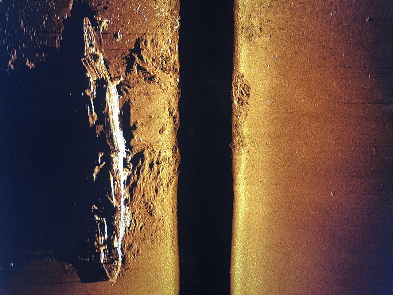 日軍二戰航母赤城號殘骸。(美聯社)