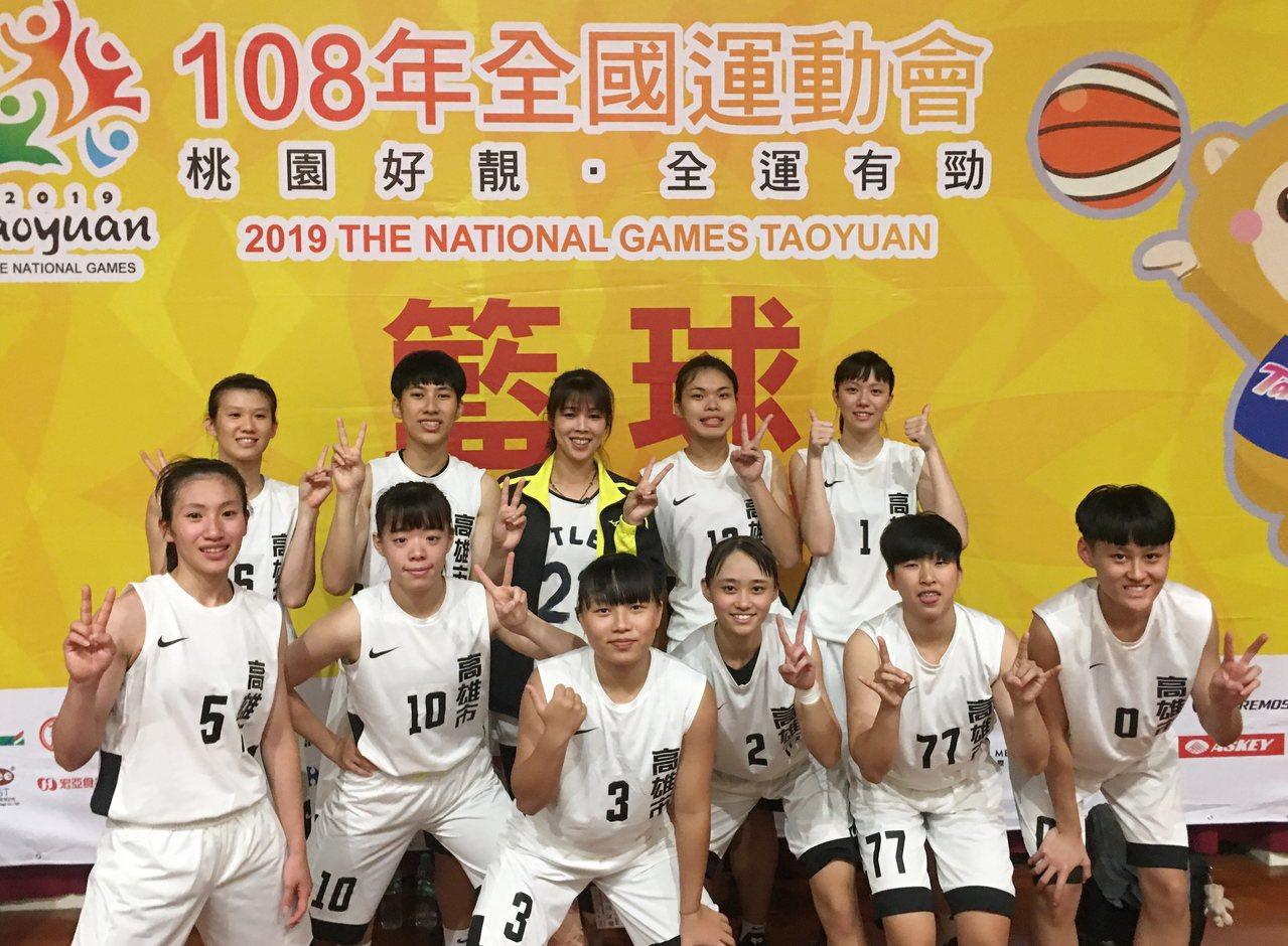 3月打下UBA公開女一級冠軍的「佛光幫」全運會重新合體。記者曾思儒/攝影