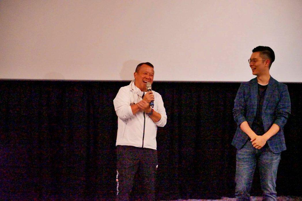 曾志偉(左)、導演徐嘉凱出席「聖人大盜」映後座談。圖/双喜提供