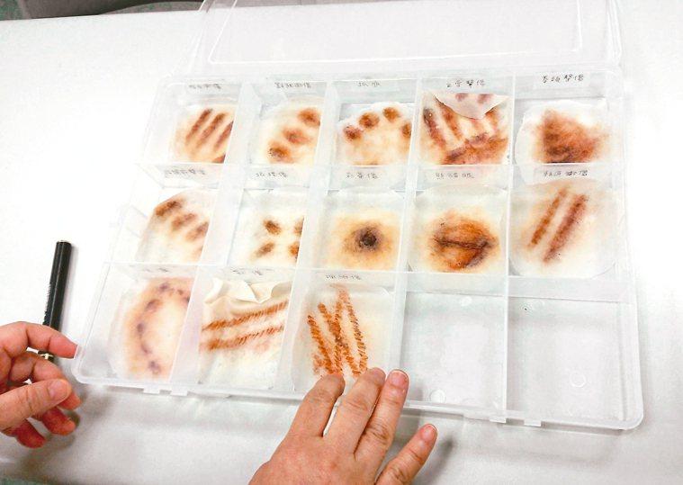 尹莘玲近幾年製作教材和驗傷工具,從手冊、皮膚外傷到受虐嬰兒模型,讓更多人「看懂」...