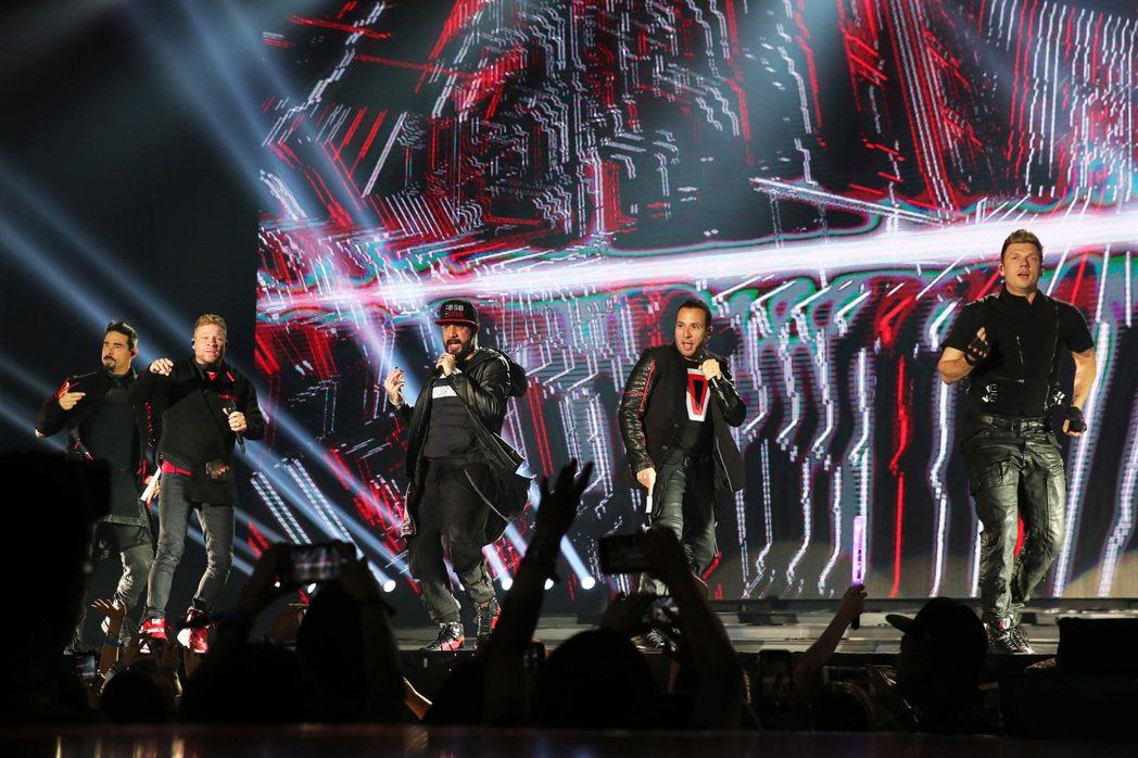 「新好男孩」睽違4年後第4度來台,今晚在在南港展覽館舉行演唱會。記者徐兆玄/攝影