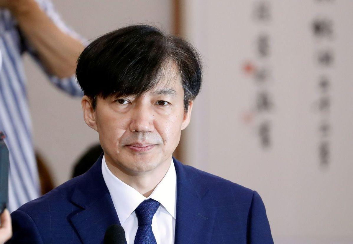 曹國在10月14日宣布辭職,部長只當了35天。。 (路透)