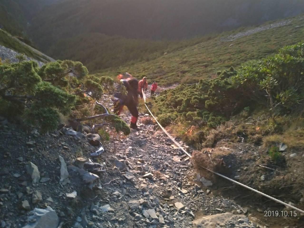 北市張姓男子14日獨攀雪山聖陵線,遇高山症險死。 記者陳宏睿/翻攝