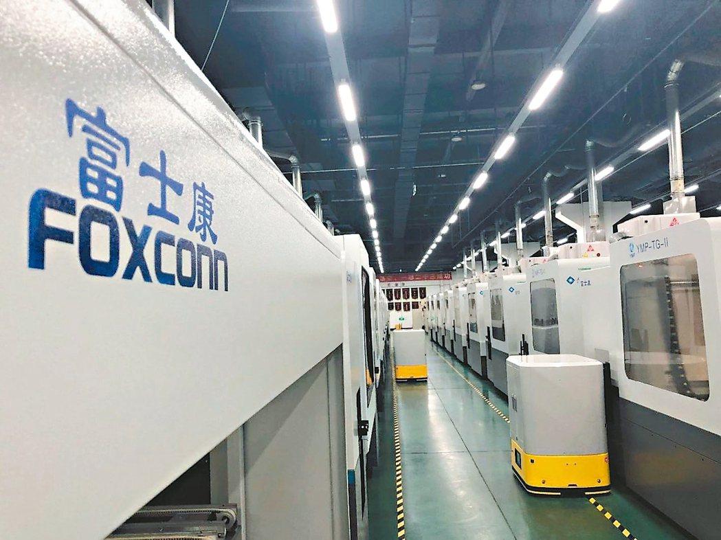 工業富聯(FII)搶攻專業雲端應用,圖為FII的深圳關燈工廠。 網路照片