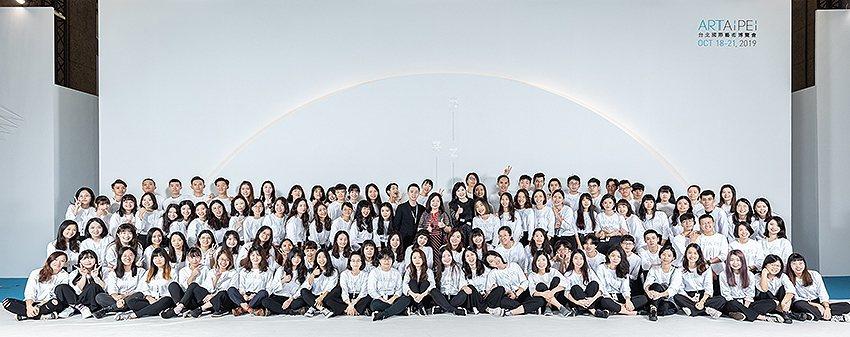 2019 ART TAIPEI藝術服務人才培育運用計畫成員,同為藝博會劃下美好句...