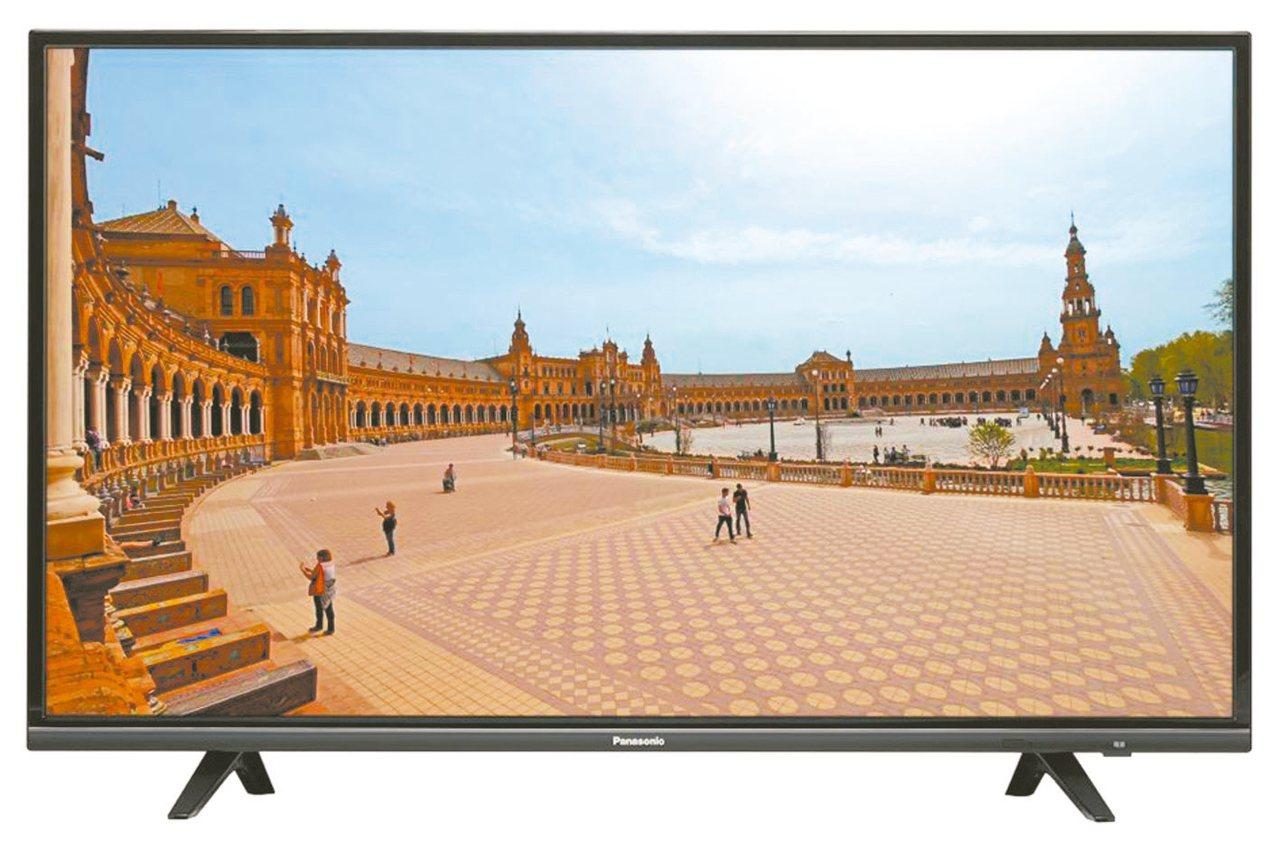 PANASONIC 65型4K聯網LED顯示器+視訊盒。 圖/全國電子提供