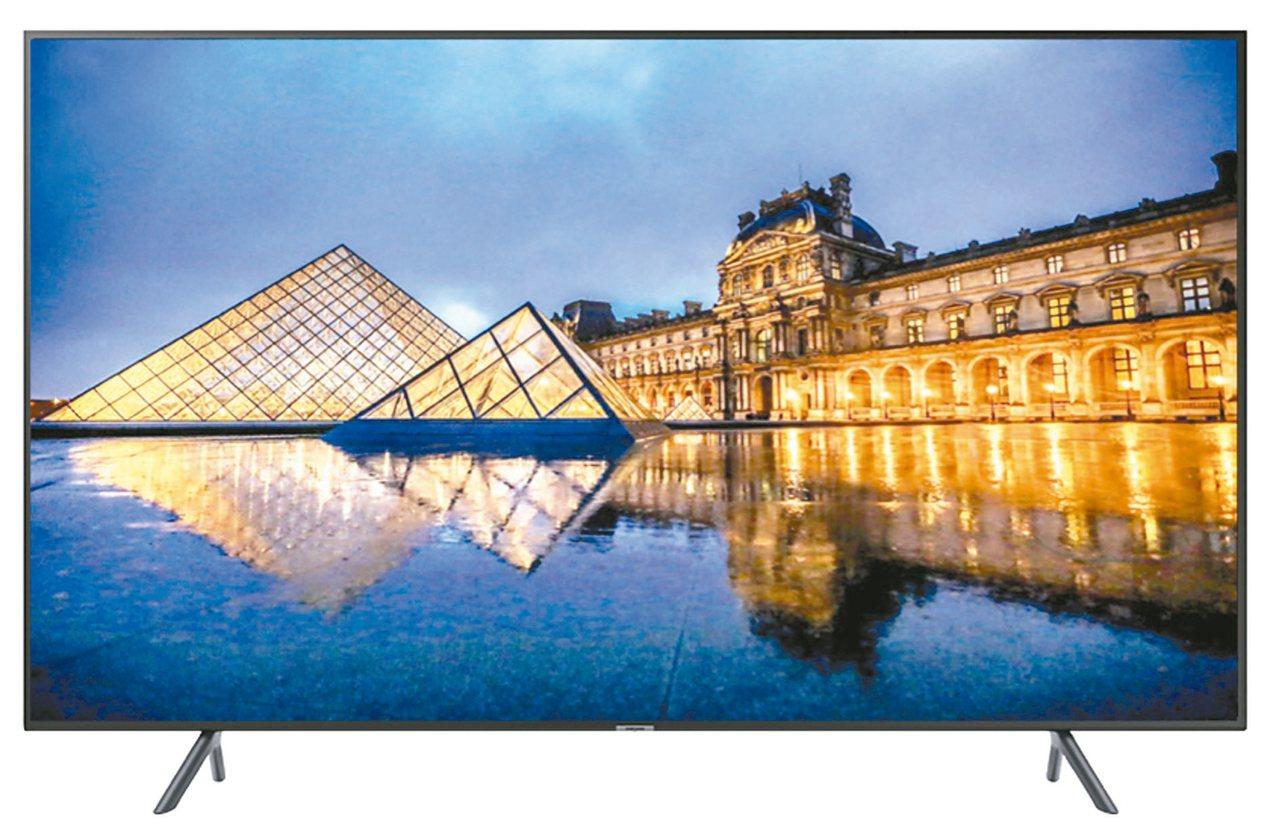 三星65型智慧型UHD液晶電視。 圖/全國電子提供