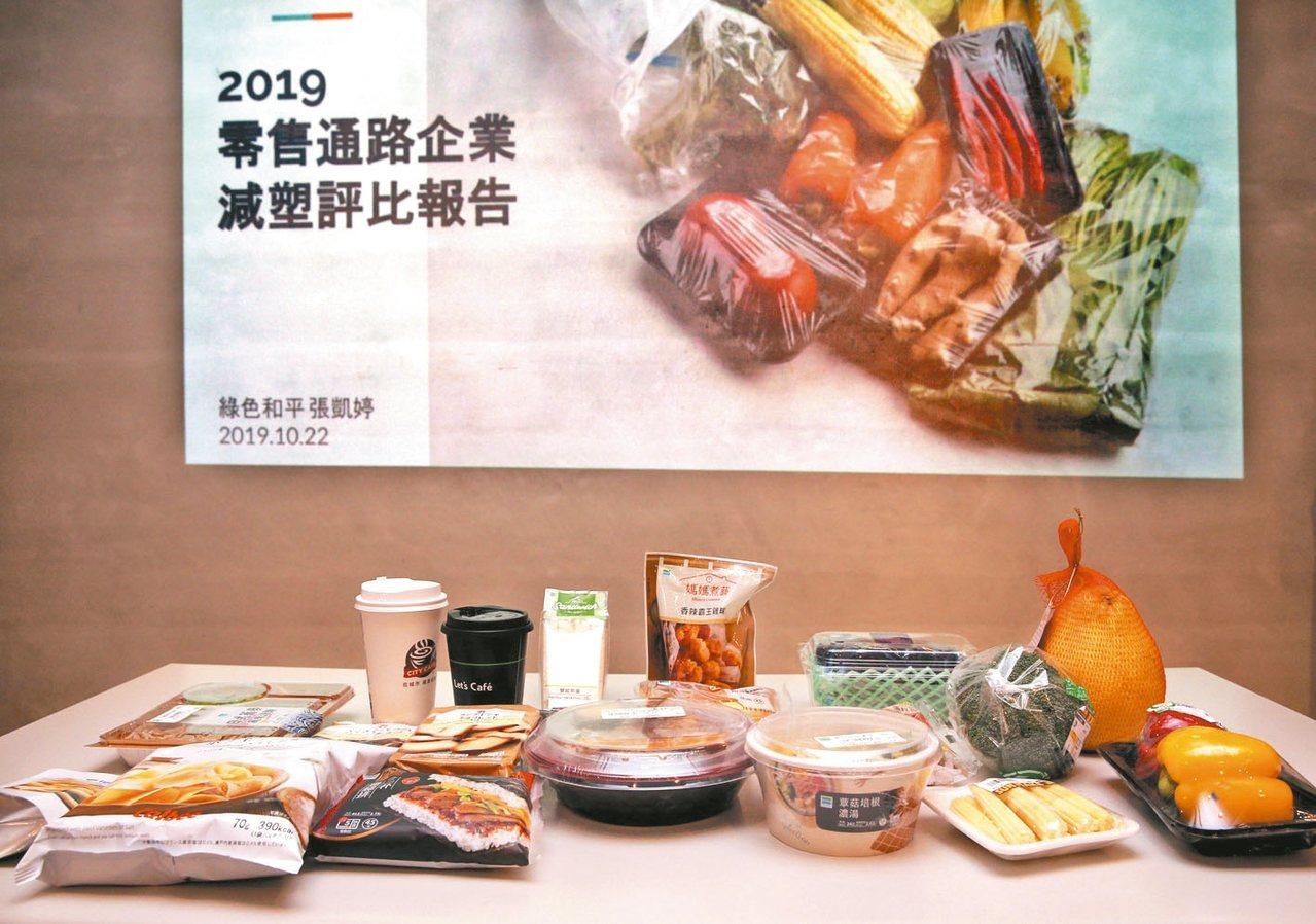 綠色和平今天發布「2019年台灣零售通路企業減塑評比報告」,九家通路的減塑表現,...
