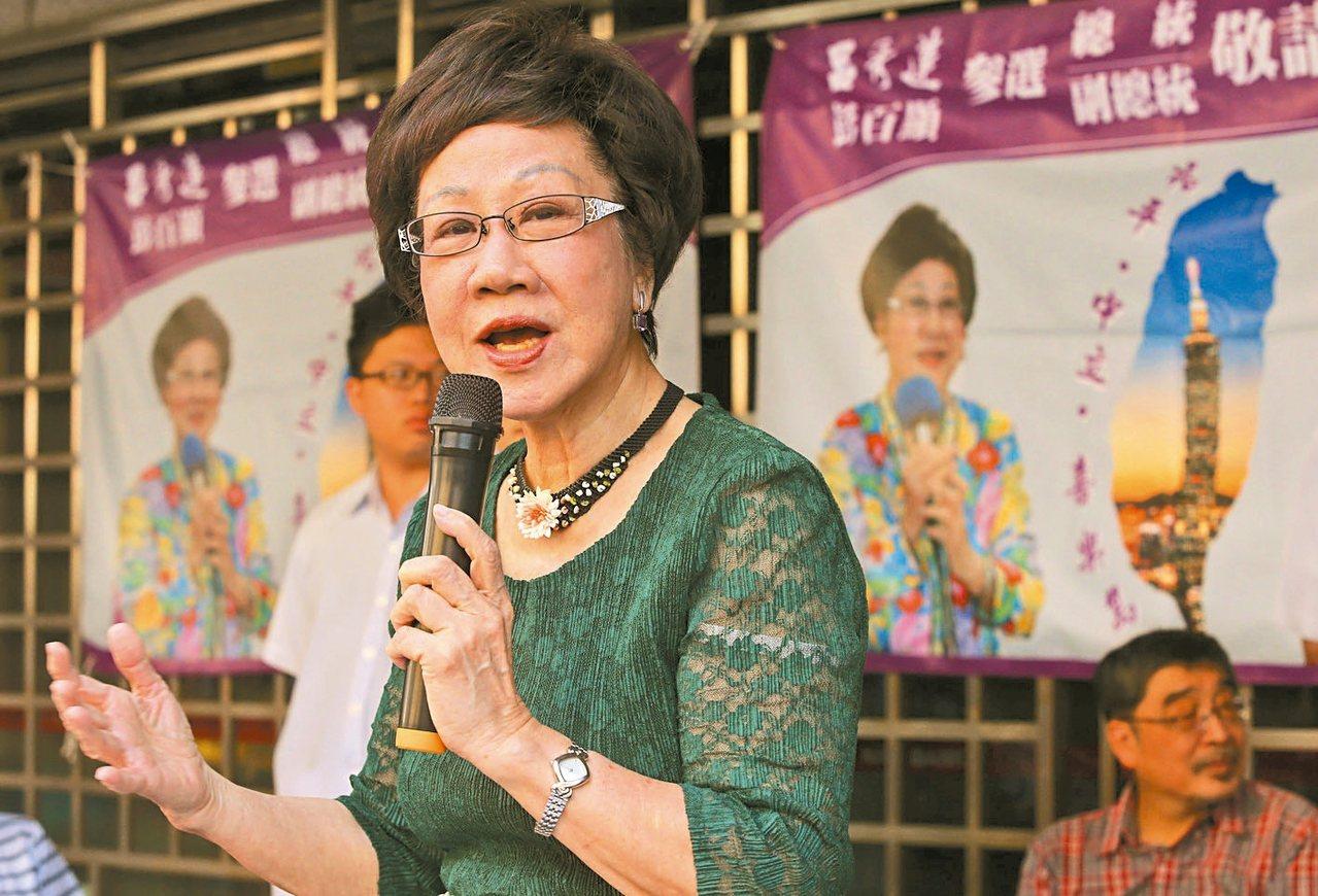 喜樂島總統選舉被連署人呂秀蓮連署狀況不理想。 圖╱聯合報系資料照片