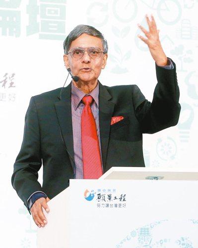 聯合報主辦的永續能源之路高峰論壇,邀請到諾貝爾和平獎共同得主、聯合國政府間氣候變...