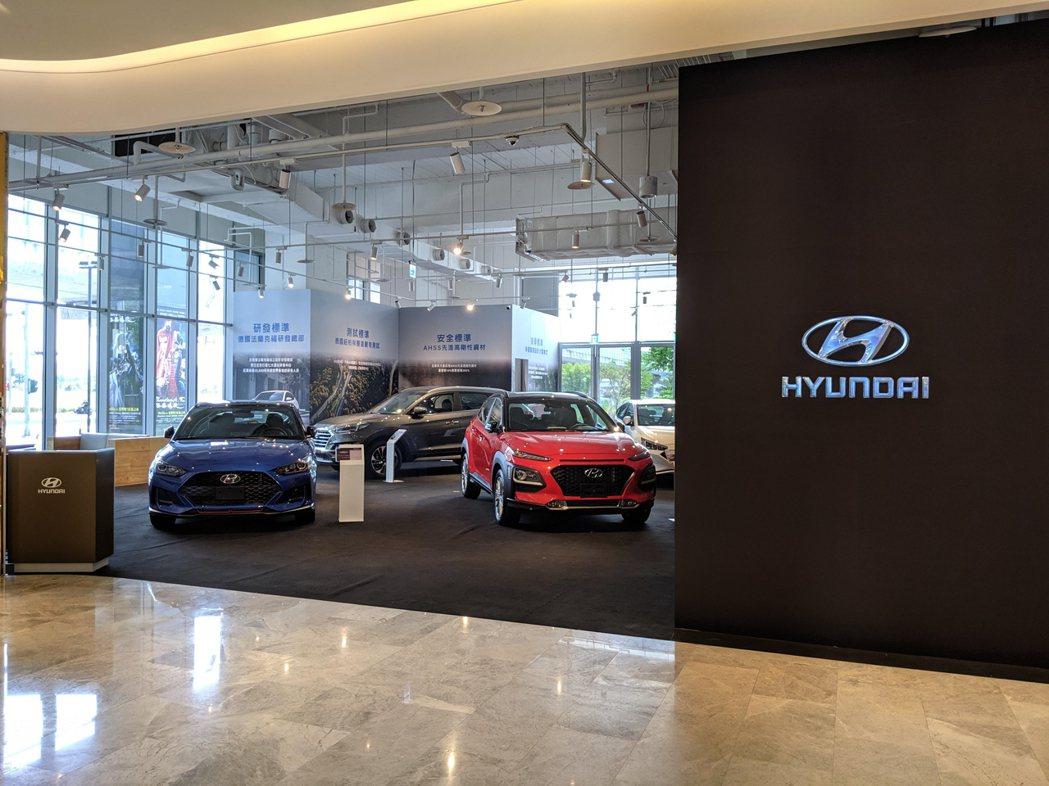 融入台中文心秀泰的Hyundai品牌概念館,以寬敞明亮的舒適環境,讓逛街的民眾也...