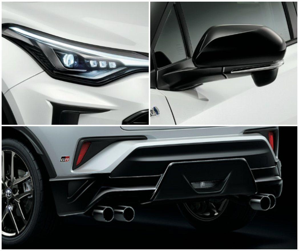 燻黑頭燈、以及車尾的四出尾管都是GR Sport版本專屬。 摘自Toyota.j...