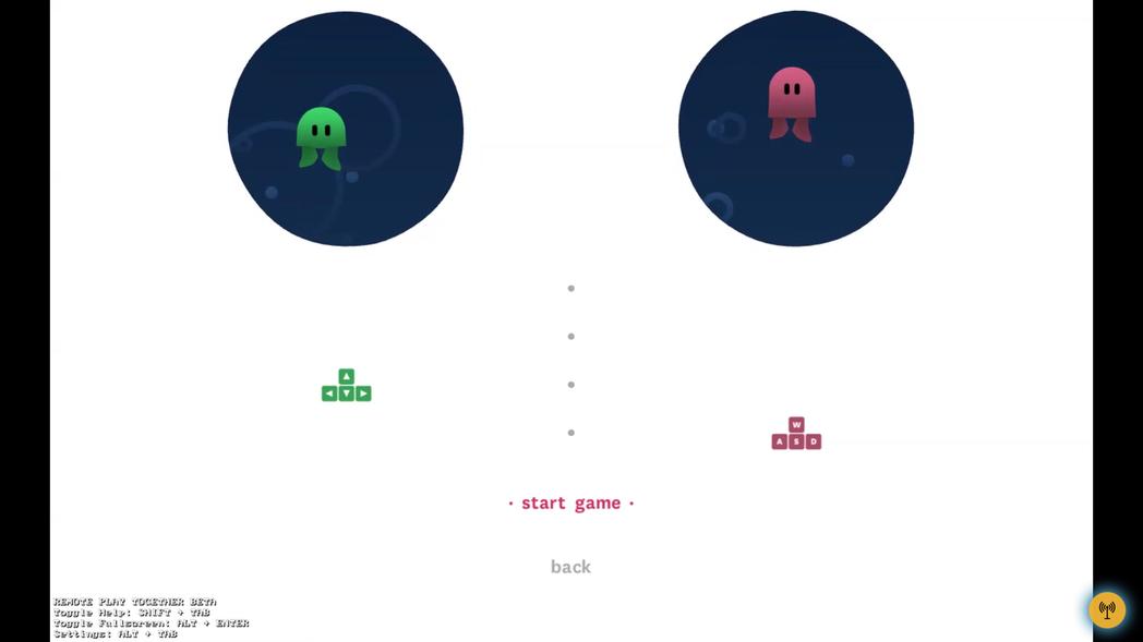以上是同意加入遠端的玩家畫面,可以看見右下角有一個串流中的符號。
