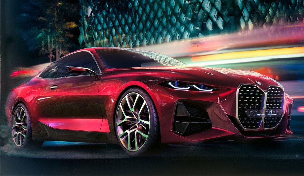 BMW在2019年法蘭克福車展中發表Concept 4概念車。 摘自BMW