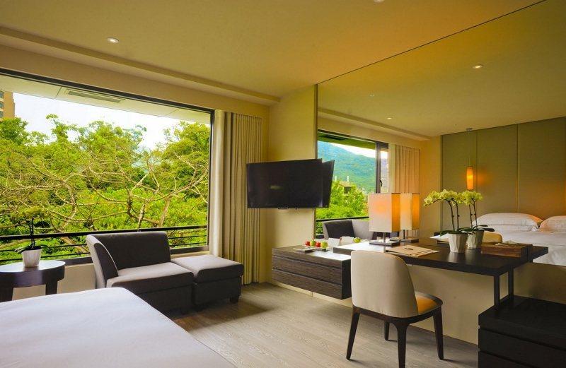 大地酒店奇岩客房實景,採光好,空間大。 業者/提供