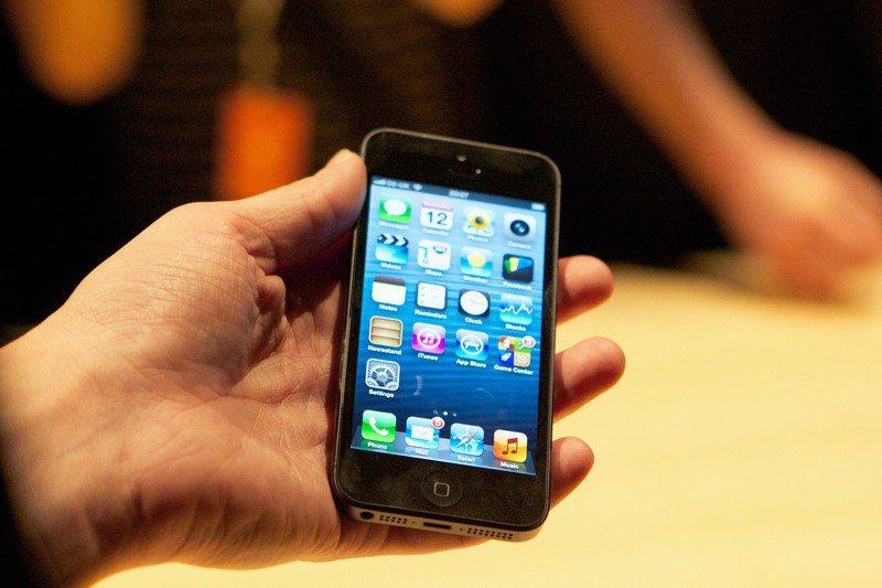 iPhone 5。歐新社
