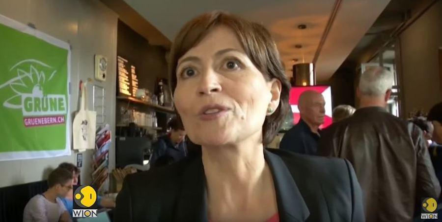 瑞士人民是政治舞台的主角, 20日國會大選中瑞士綠黨支持率大幅上升。圖為瑞士綠黨...