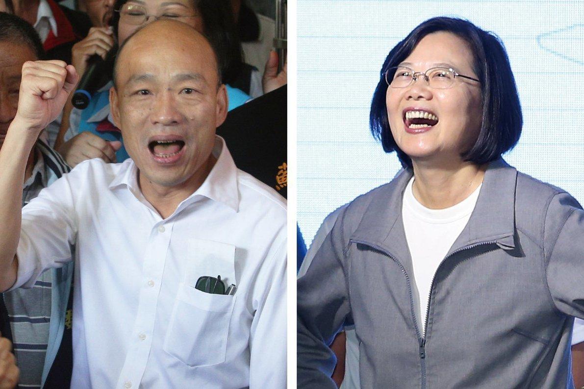 親綠智庫最新民調 蔡英文大勝韓國瑜16.4%