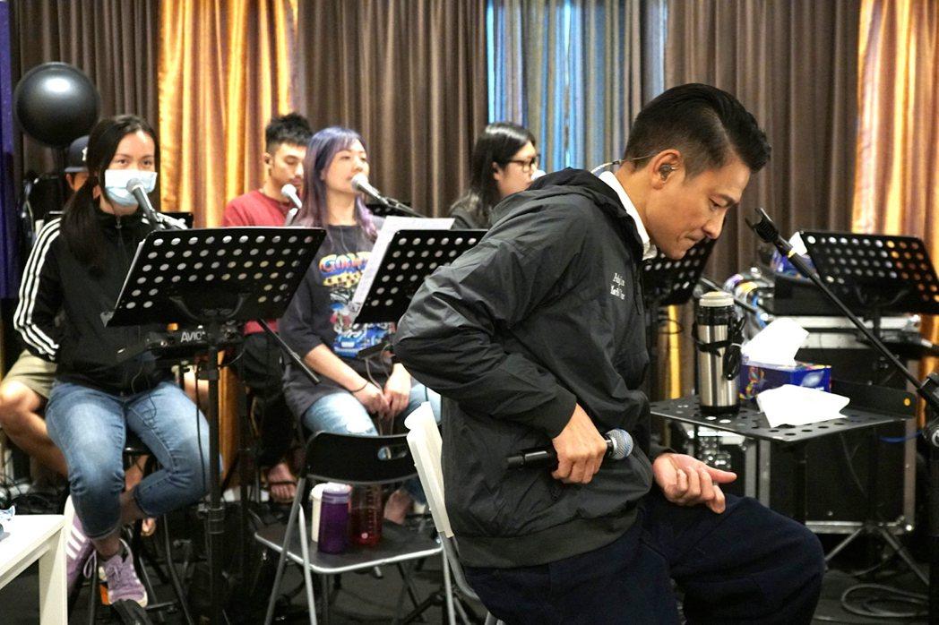 劉德華(前)積極備戰演唱會加場。圖/台灣映藝提供