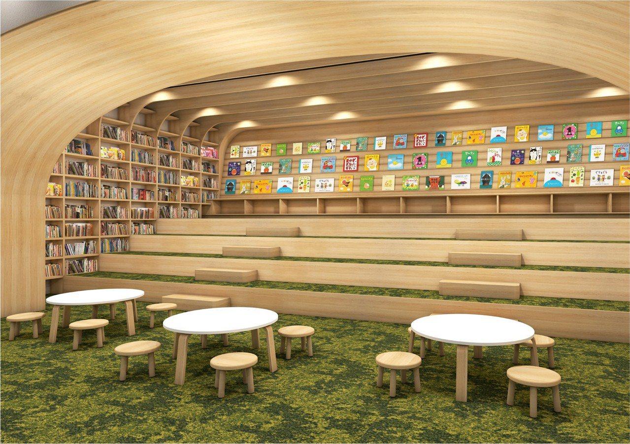 TSUTAYA BOOKSTORE南港店特別設計100坪的親子空間。圖/潤泰集團...
