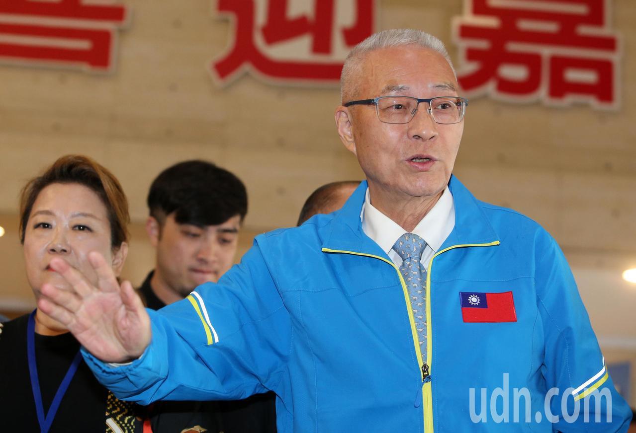 國民黨主席吳敦義。聯合報系資料照/記者胡經周攝影
