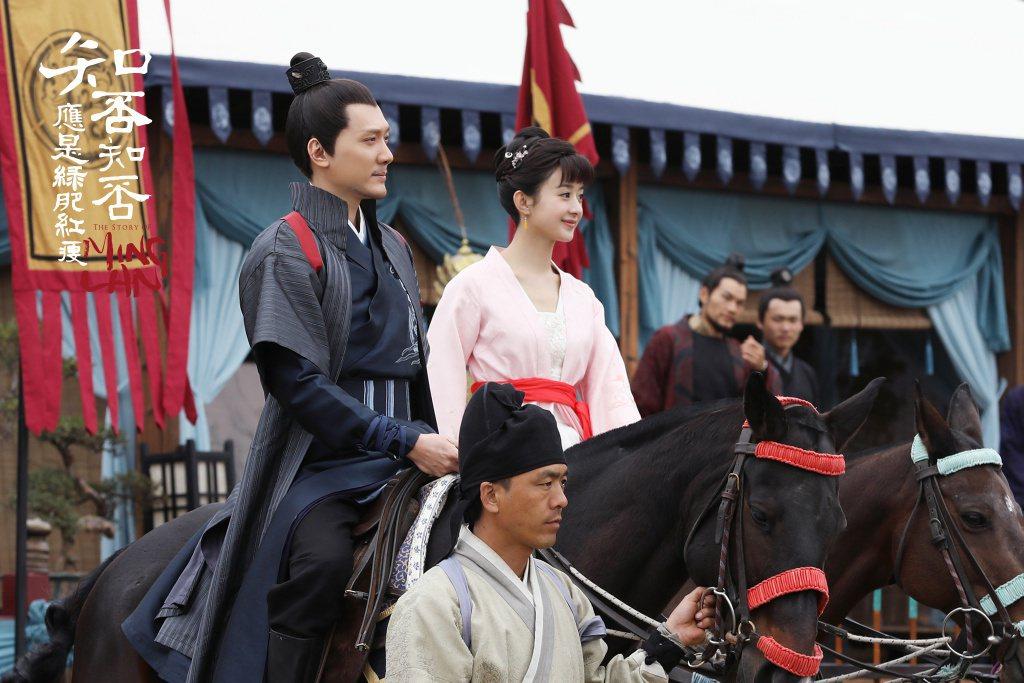 馮紹峰(左)在「知否」戲中飾演浪子顧廷燁,用計娶到趙麗穎。圖/緯來戲劇台提供