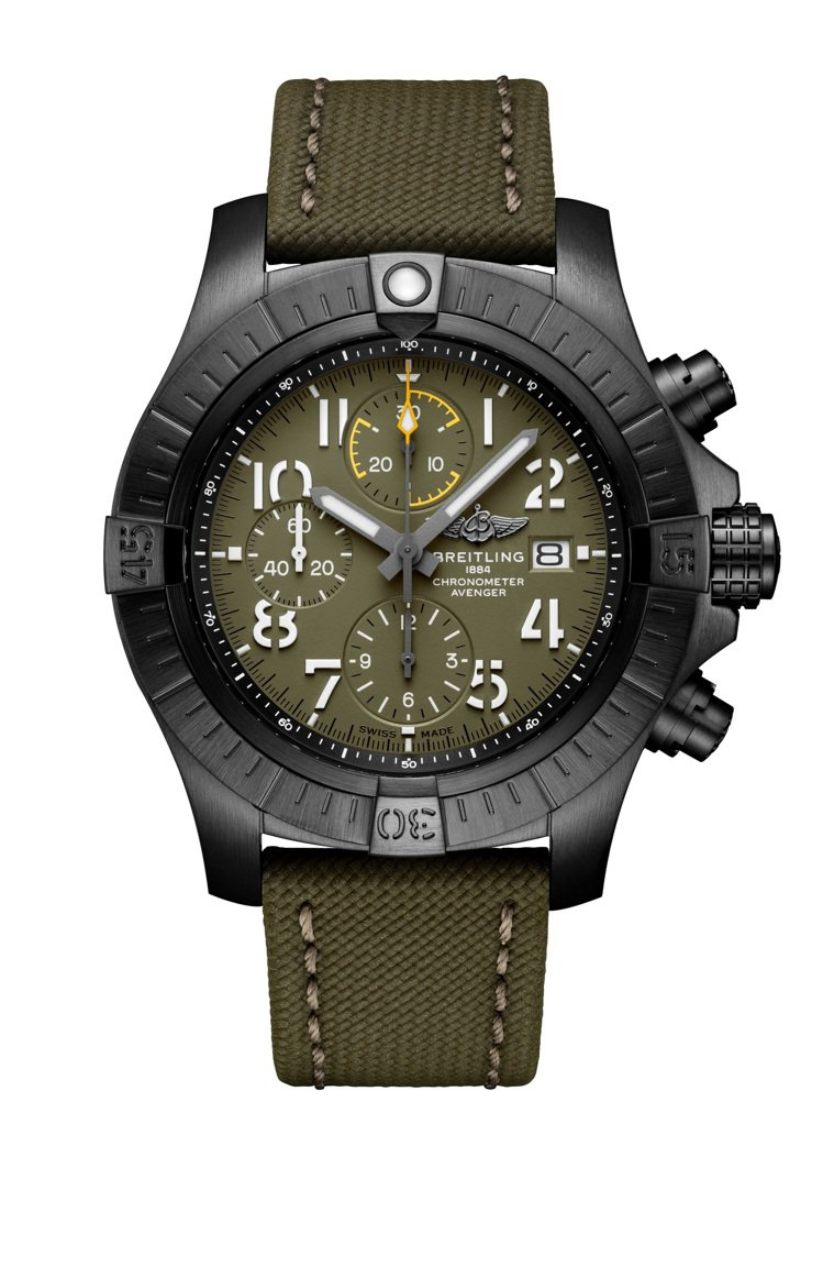 百年靈Avenger Chronograph 45 Night Mission復...