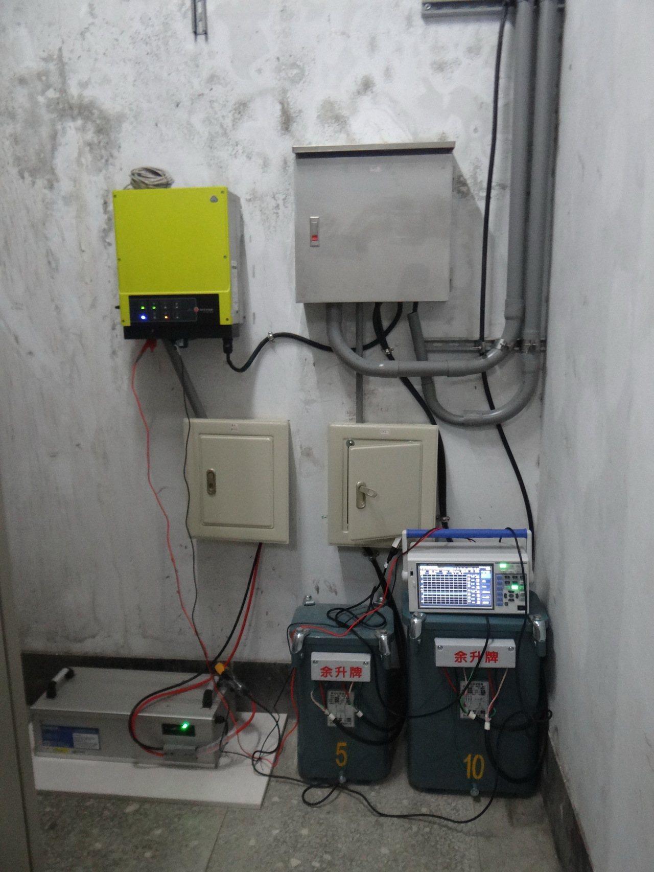 虎科大研發儲電系統,可將太陽能所產的電力,儲存並放電。記者蔡維斌/攝影