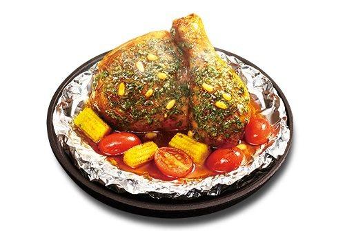 「松子青醬烤蔬紙包雞」單點售價119元。圖/肯德基提供