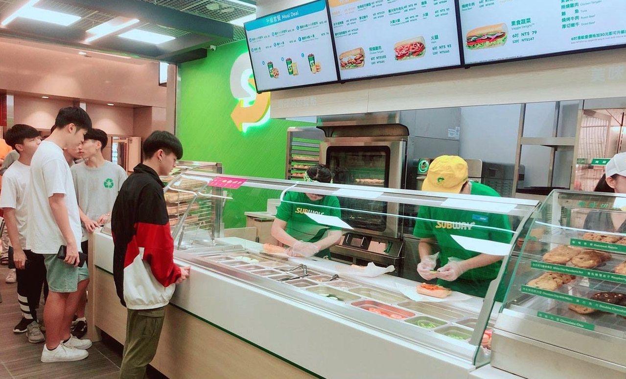 11/1當天全台SUBWAY門市享買一送一優惠。圖/摘自SUBWAY臉書專頁