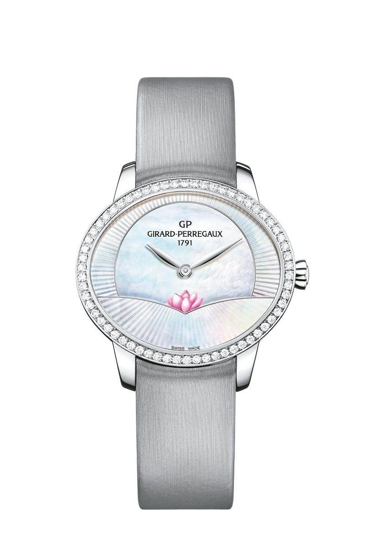 芝柏貓眼系列蓮花精鋼鑲鑽腕表,58萬1,000元。 圖/芝柏表提供