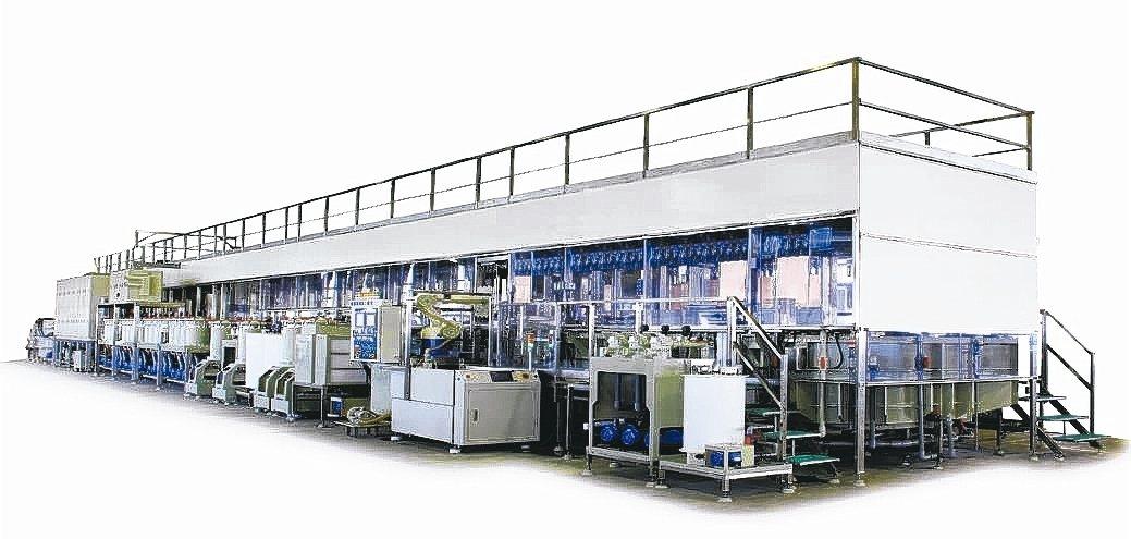 回掛垂直連續電鍍銅設備(UVCP)。 亞碩/提供