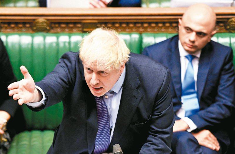 英國國會通過首相強生的脫歐協議草案,但否決脫歐時間表。 美聯社