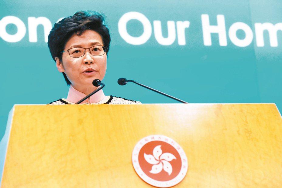 外傳北京有意撤換香港特首林鄭月娥。 歐新社