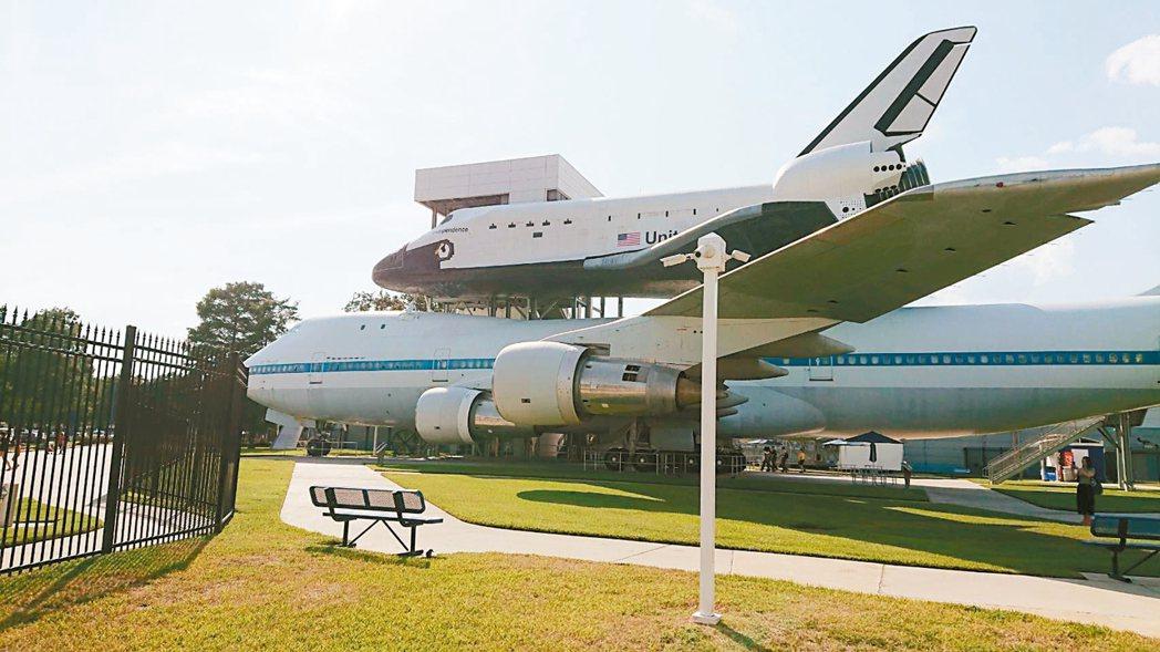 位於休士頓休士頓太空中心(Space Center Houston)成為宇宙迷朝...
