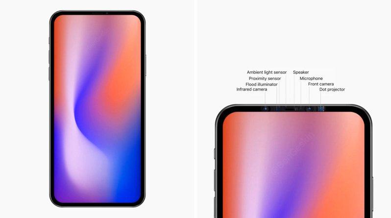 科技部落客格斯欽指出,蘋果正在測試多款預計明年推出的iPhone樣品,並推測明年蘋果可能縮小新款iPhone螢幕上方「瀏海」的尺寸面積。 圖/推特@Benjamin Geskin