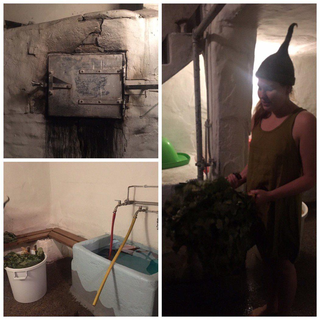 傳統煙燻桑拿。 吳佳汾/攝影