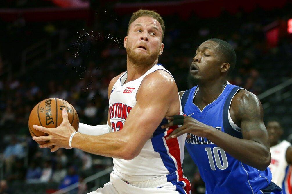 NBA/活塞葛里芬膝傷纏身 預計休兵兩星期