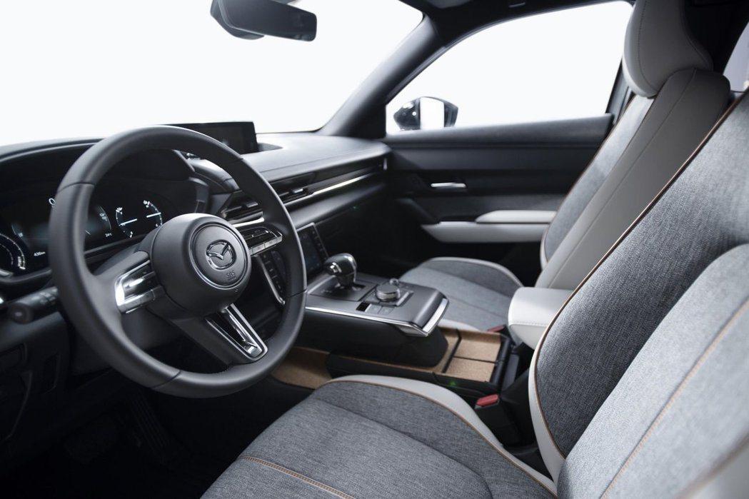全新Mazda MX-30內裝雖簡約但也夠精緻。 摘自Mazda