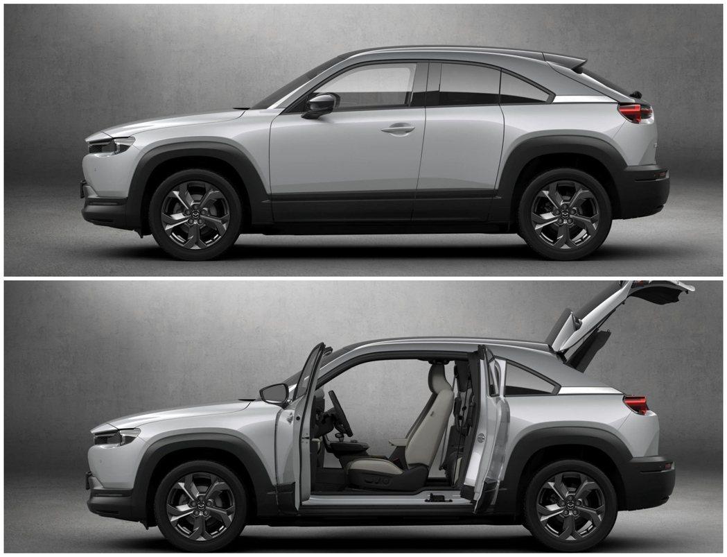 Mazda RX-8經典的對開式車門設計留存於全新純電動車MX-30之上。 摘自...