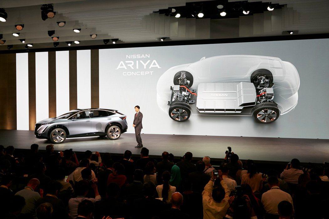 Ariya Concept的四驅電控系統能夠展現最強的控制能力。 圖/Nissa...