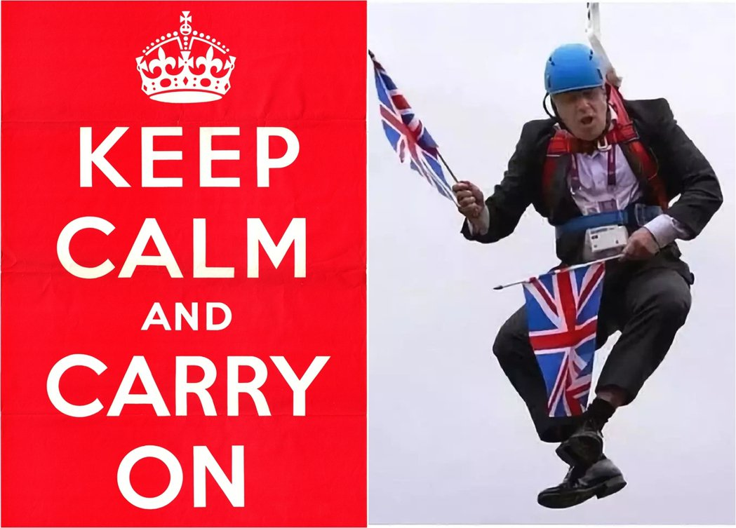「Keep calm and carry on.」比起英國,這句話或許更適合用來...